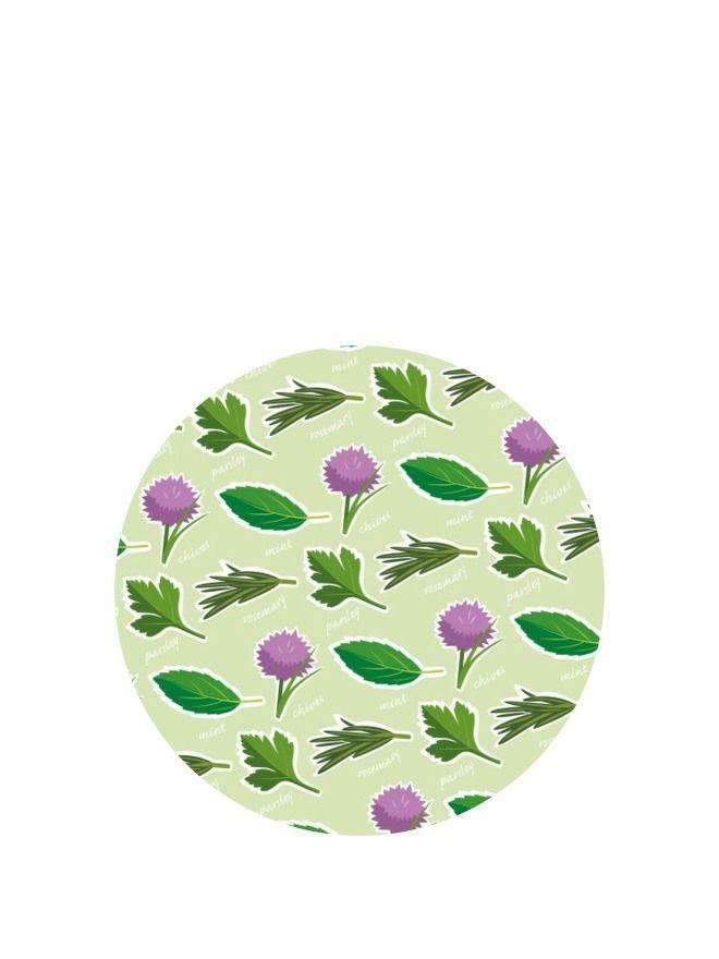 Lid Topper 40mm Garden Herbs