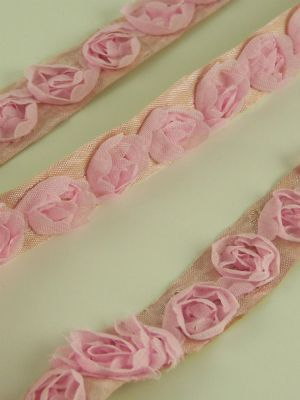 Love jam jars | D Pink Chiffon Roses