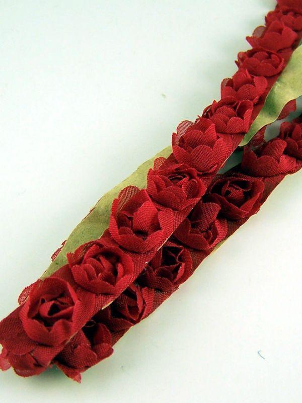Red Chiffon RoseTrim 50cm