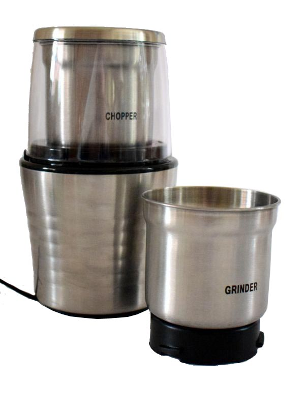 Wet and Dry Double Bowl Spice Nut Grinder