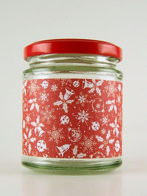Jar Wraps - Christmas Bells