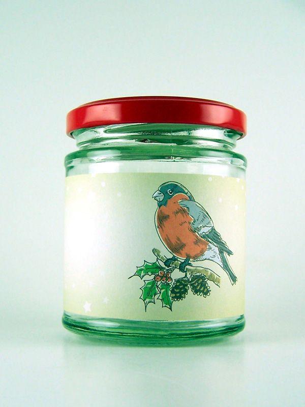 Jar Wraps - Winter Robins