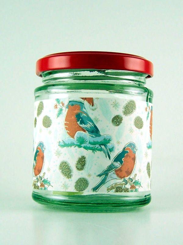 Jar Wraps - Winter Robins Friends