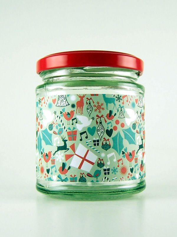Jar Wraps - Christmas Parcels