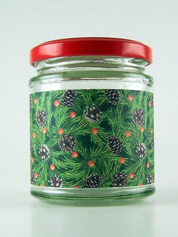 Jar Wraps - Fir Cones