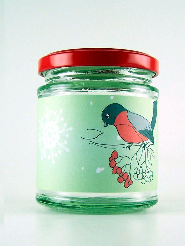 Jar Wraps - Rowan Berry Bird