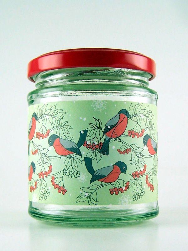 Jar Wraps - Rowan Bird Flock